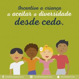 Incentive a criança a aceitar a diversidade desde cedo