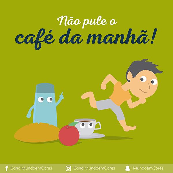 Não deixe a criança pular o café da manhã!