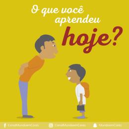 Converse com seu filho sobre o dia dele