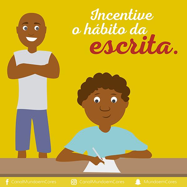 Incentive o hábito da escrita nas crianças