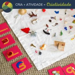 Atividade montessoriana para crianças em alfabetização