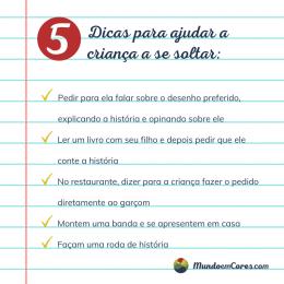 Cinco dicas para ajudar a criança a se soltar