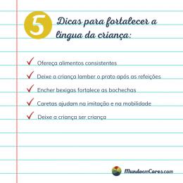 Cinco dicas para ajudar a fortalecer a língua da criança